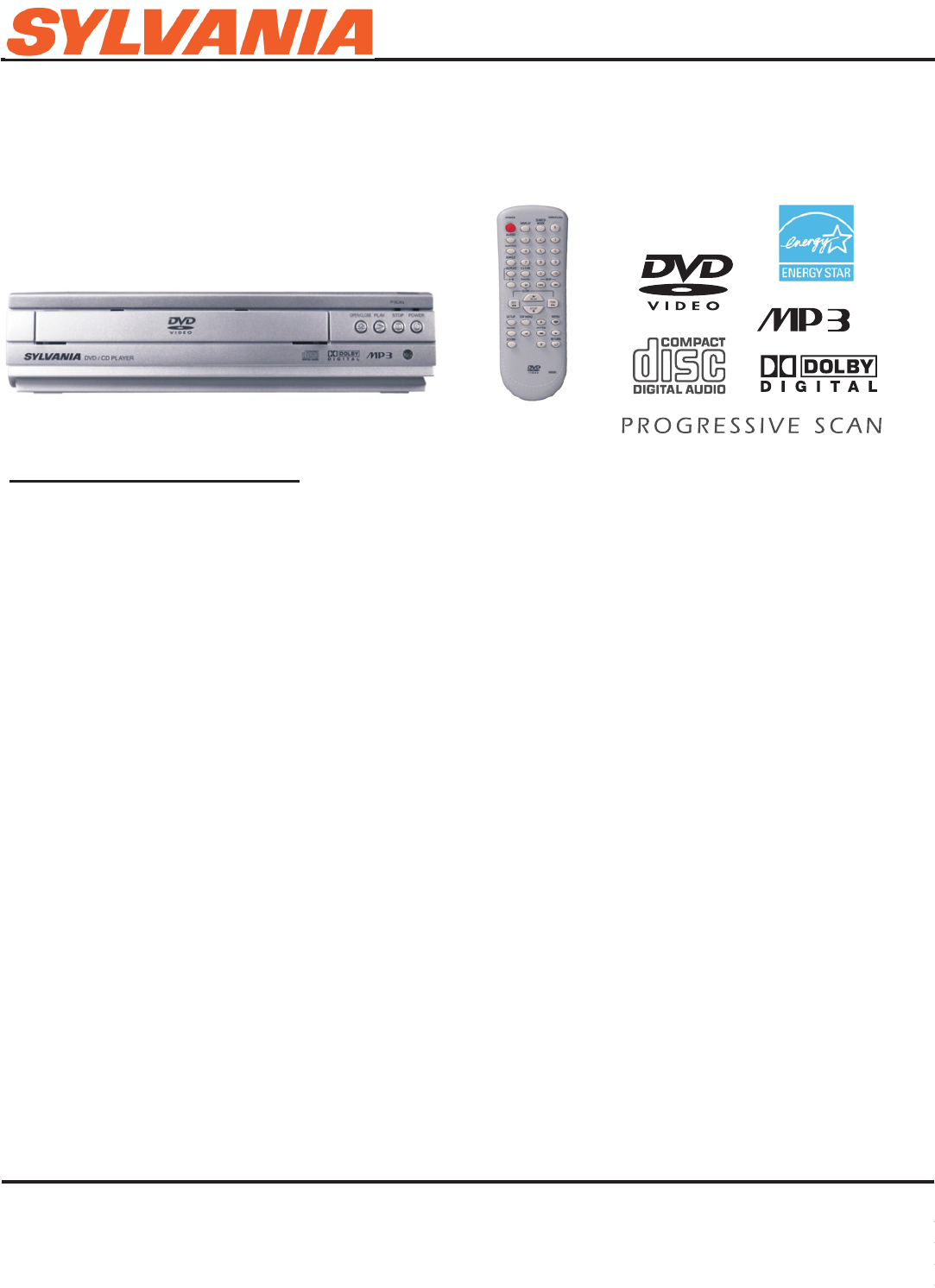 Sylvania Dvd Player Dp100sl8 User Guide