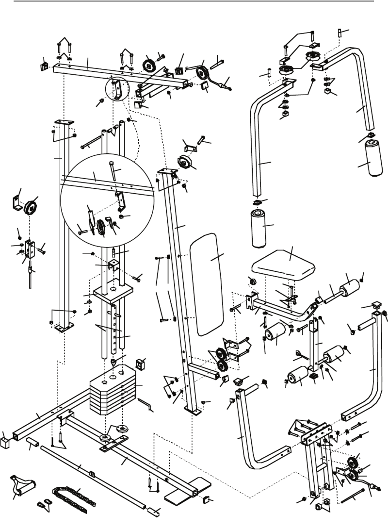 Weider 8510 5 station home gym manual workout everydayentropy page 23 of weider home gym 8510 user guide manualsonline com pooptronica Image collections