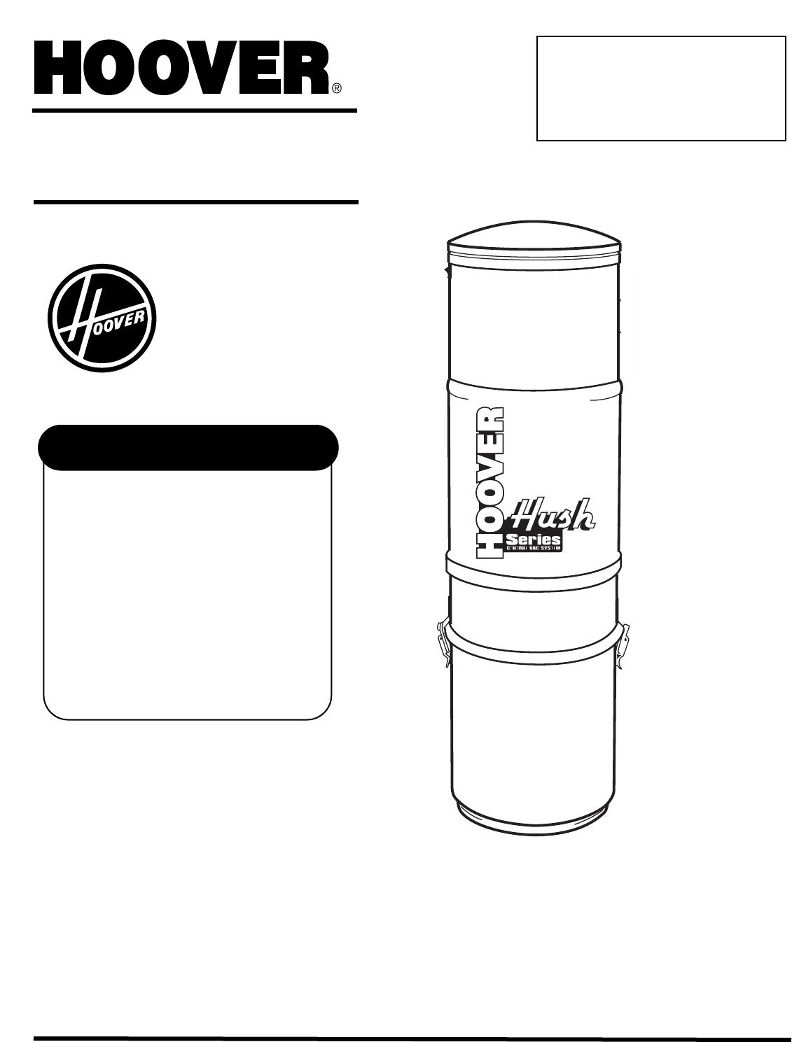 Hoover Vacuum Cleaner 120 V 60 Hz User Guide