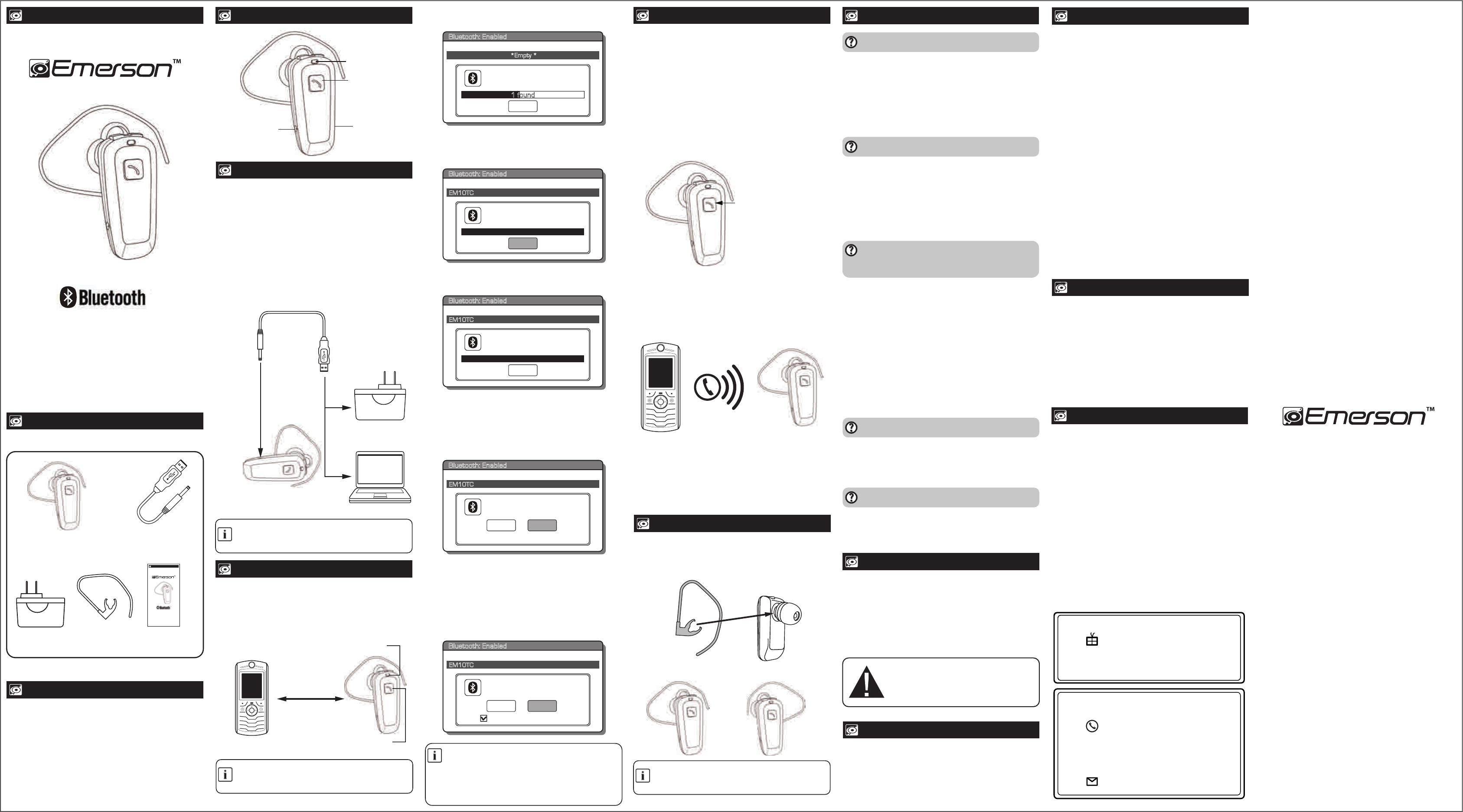 Bluetooth Headset User Manual