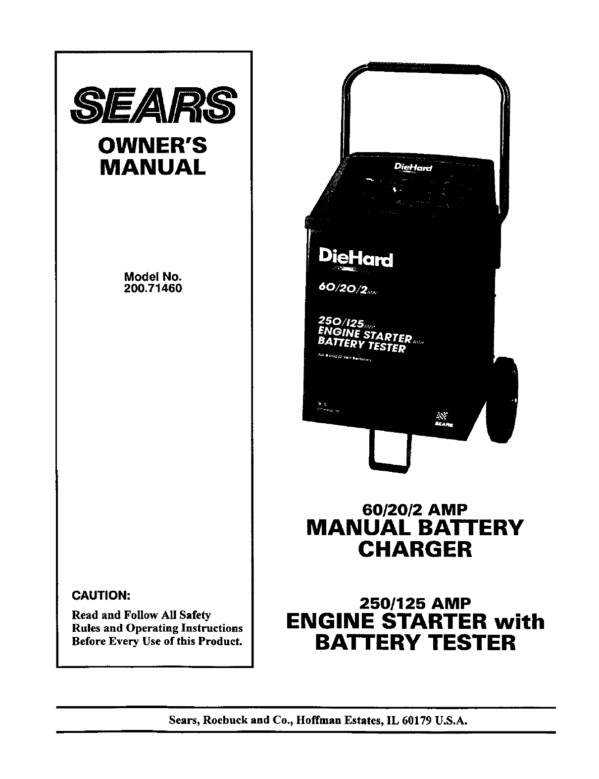 Sears Battery Charger 200 User Guide