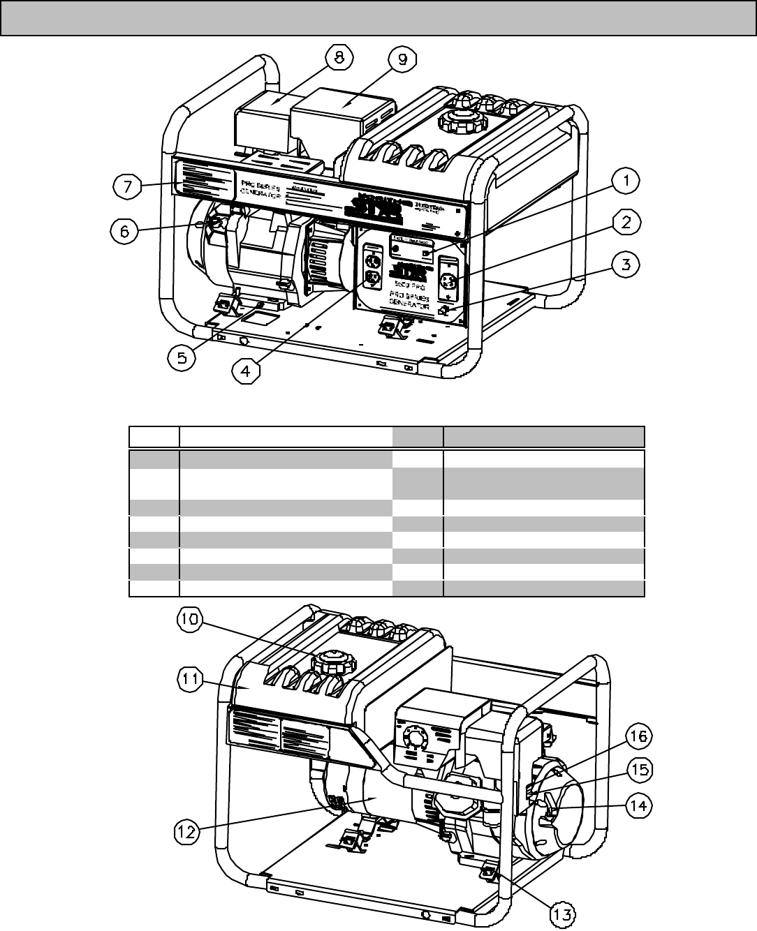 Page 4 Of North Star Portable Generator User Guide