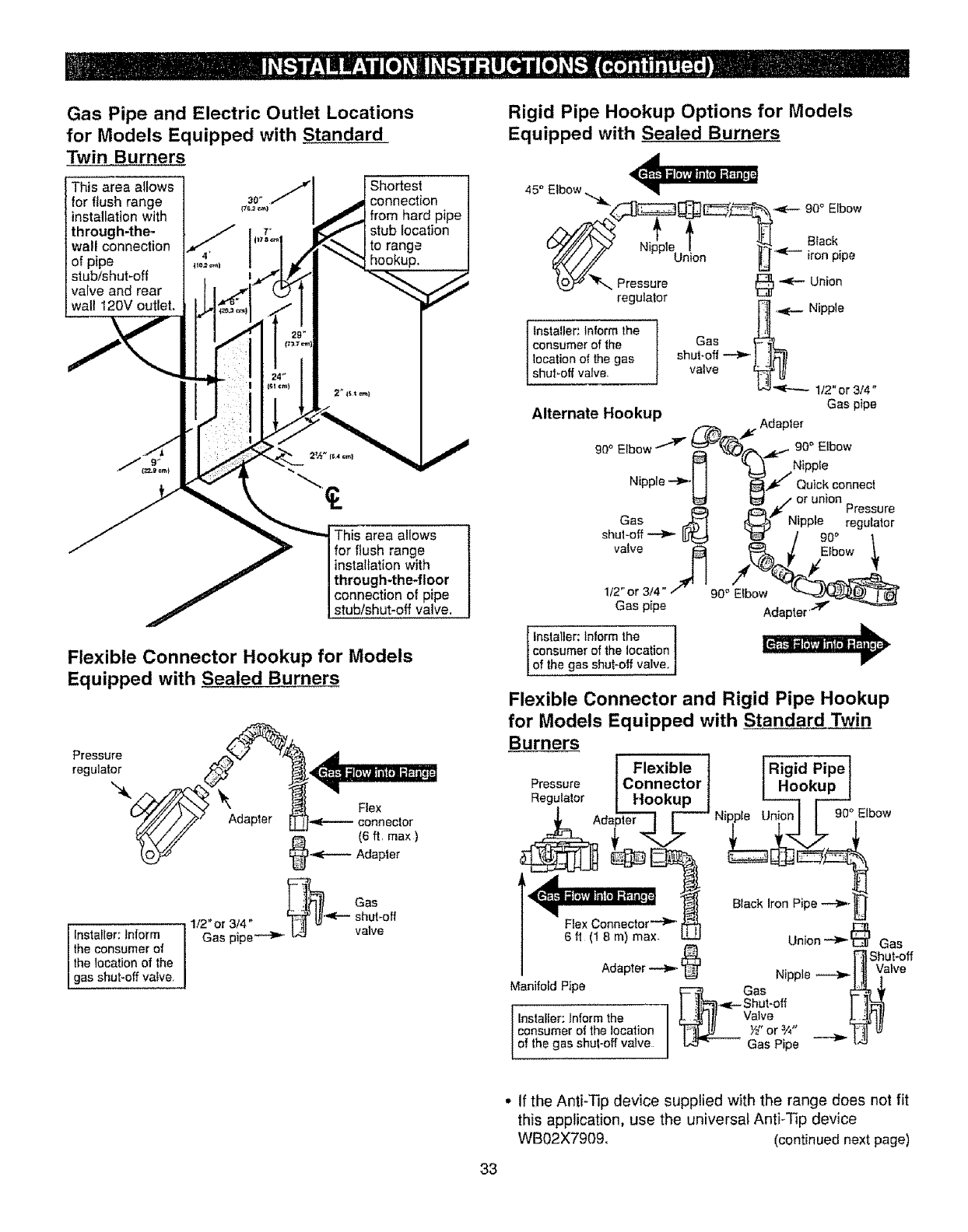 Page 33 Of Kenmore Range 362 User Guide