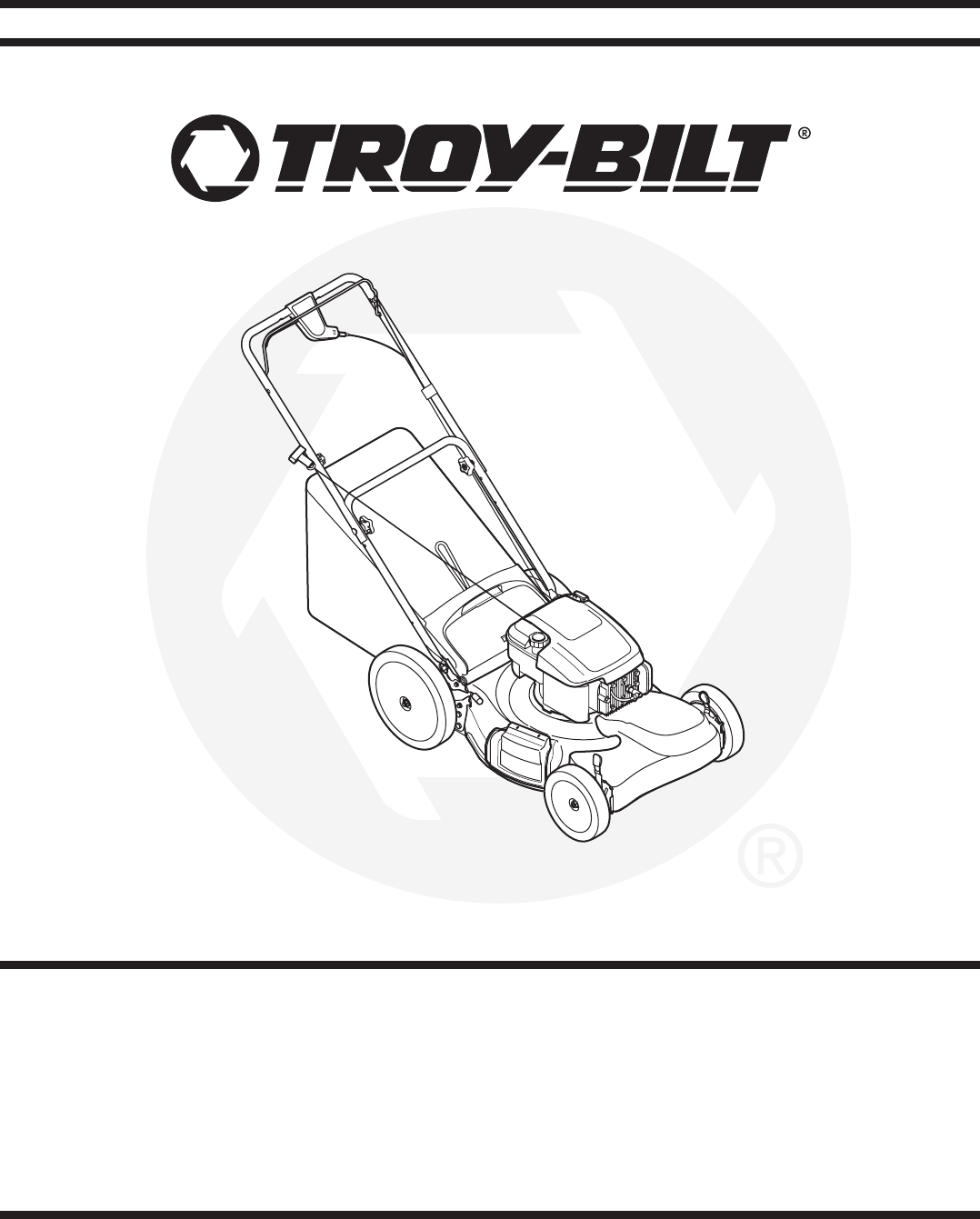 Troy Bilt Lawn Mower V560 User Guide