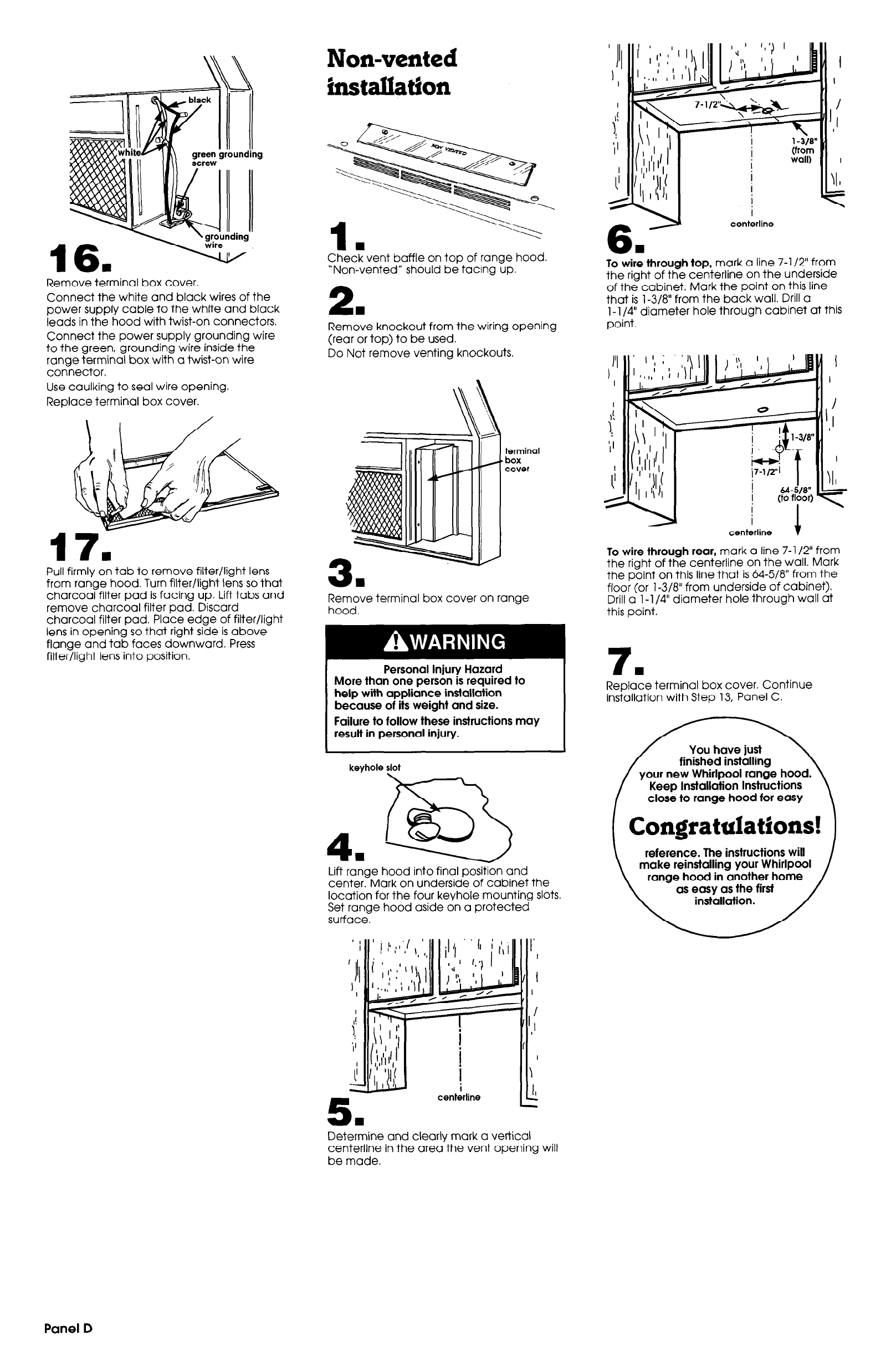 Page 5 Of Whirlpool Ventilation Hood 29 718 User Guide