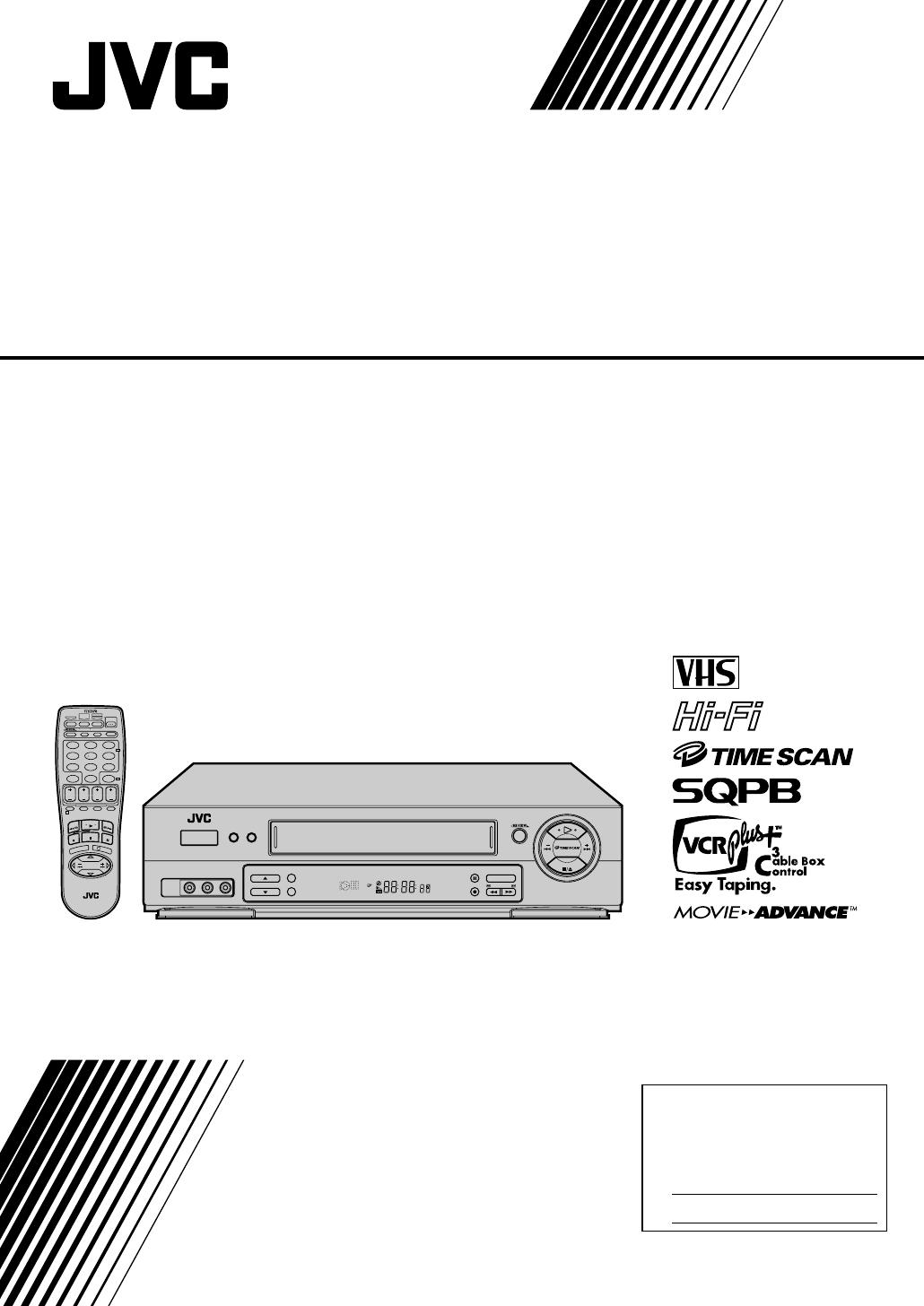Jvc Vcr Hr Dd750u User Guide