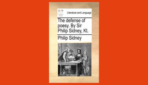 sidney defense of poesy pdf