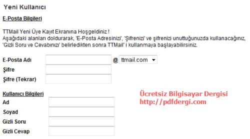 ttmail e-posta adresi