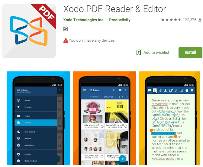 cara mengedit file pdf di android