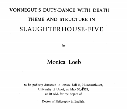 slaughterhouse five by Monica Loeb
