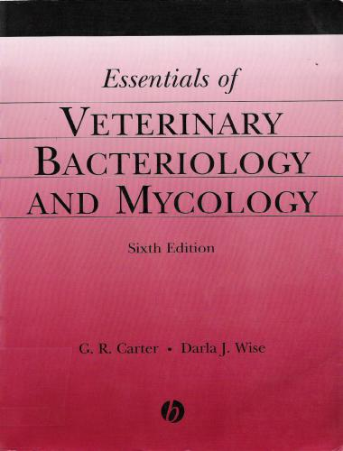 Essentials of veterinary bacteriology and mycology