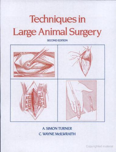 Techniques in large animal surgery