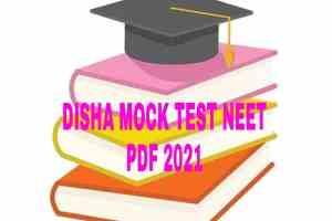 DISHA MOCK TEST NEET PDF 2021
