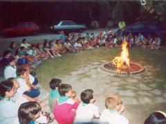 Foc de camp. Colònies Borredà 2003. (C) Coordinacio Catalana