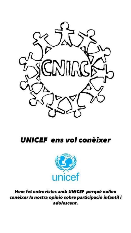 El CNIAC en l'estudi internacional d'UNICEF sobre bones pràctiques en participació infantil