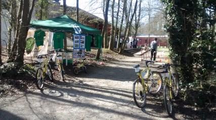 L'association VALVE proposait un parcours à vélo