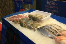 Selection of fish, crabs, prawns and ... other fish. For roasting or boiling