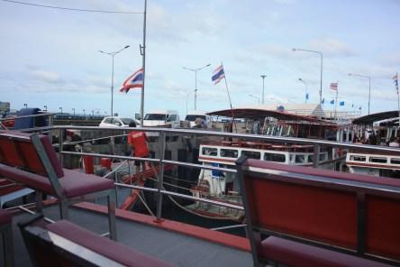 The boats at Ko Samui Port, waiting to depart