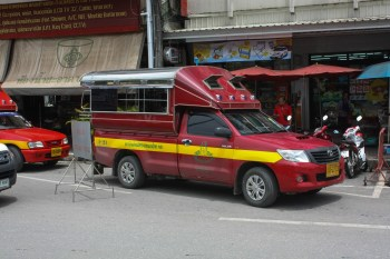 A Red songthaew