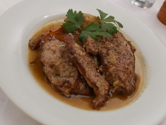The main plate was escalope cooked in a Provencal style