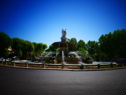 The largest fountain and a landmark of Aix-en-Provence