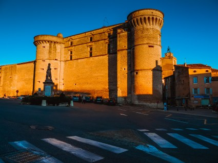 The castle of Gordes at sunset