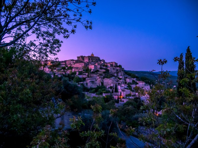 Gordes, just after sunset. One of the most photographed views of Provence