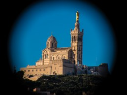 Shot of the Notre Dame de la Garde from my hotel of the Vieux Port