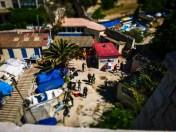 View down the corniche to a small port #miniature