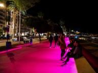 The boulevard de la Croisette by night
