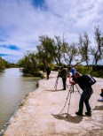 The parc ornithologique is a natural destination for bird watchers, such as those guys with DSLRs and supezoom lenses