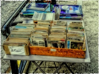 Arles, old memorabillia for sale. Mostly old photographs and postcards #polaroid_transfer