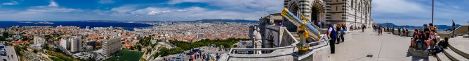 Panorama from the bell tower of Notre Dame de la Garde