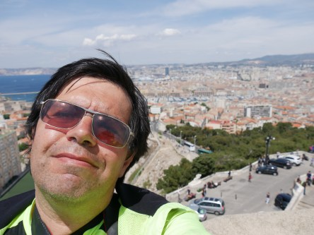 Self portrait with Marseille in the background