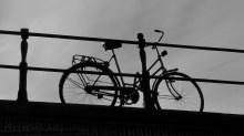unusually lone bike, Amsterdam