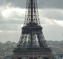 Eiffel Tower grey detail