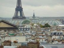 Eiffel Tower across the rooftops