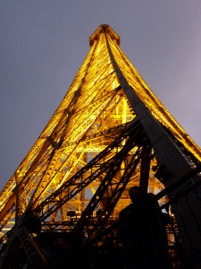 Eiffel Tower level 2 at night