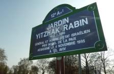 Jardin Yitzhak Rabin, Paris