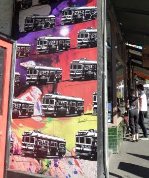 Melbourne: Brunswick street, Fitzroy
