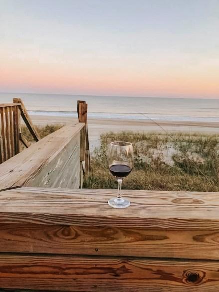 See Turtle Cottage wine on the deck