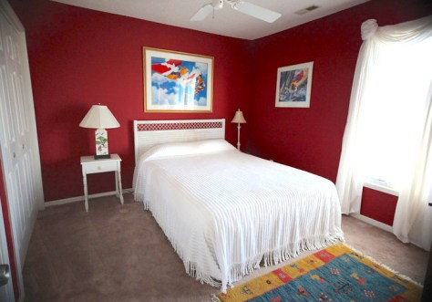 red bedroom conched out