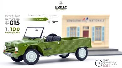 Photo of 1/18 : Norev sort la Citroën Mehari gendarmerie en édition limitée