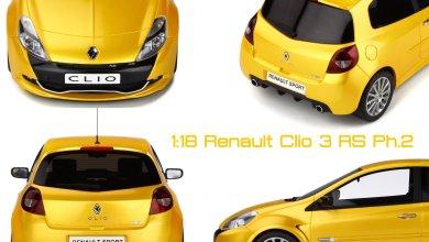 Photo of 1/18 : La Renault Clio 3 RS phase 2 bientôt chez OttOmobile