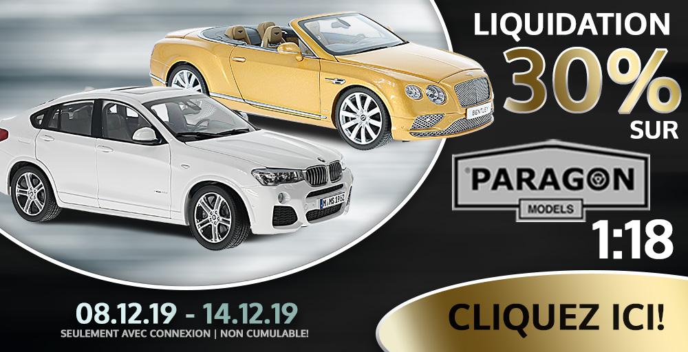 Liquidation 30% sur Paragon Models chez Modelcarworld