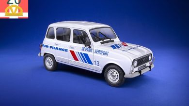 Photo of 1/18 : La Renault 4 Air France réalisée par Solido