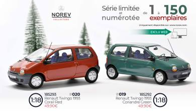 Photo of 1/18 : La Renault Twingo 1 de Norev en édition limitée