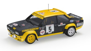 Photo of 1/18 : La Fiat 131 Abarth du Tour de Corse 1977 miniaturisée par Top Marques