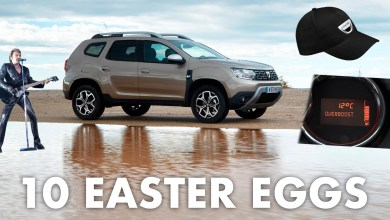 Photo de 10 easter eggs sur les Dacia (vendues depuis 2015)