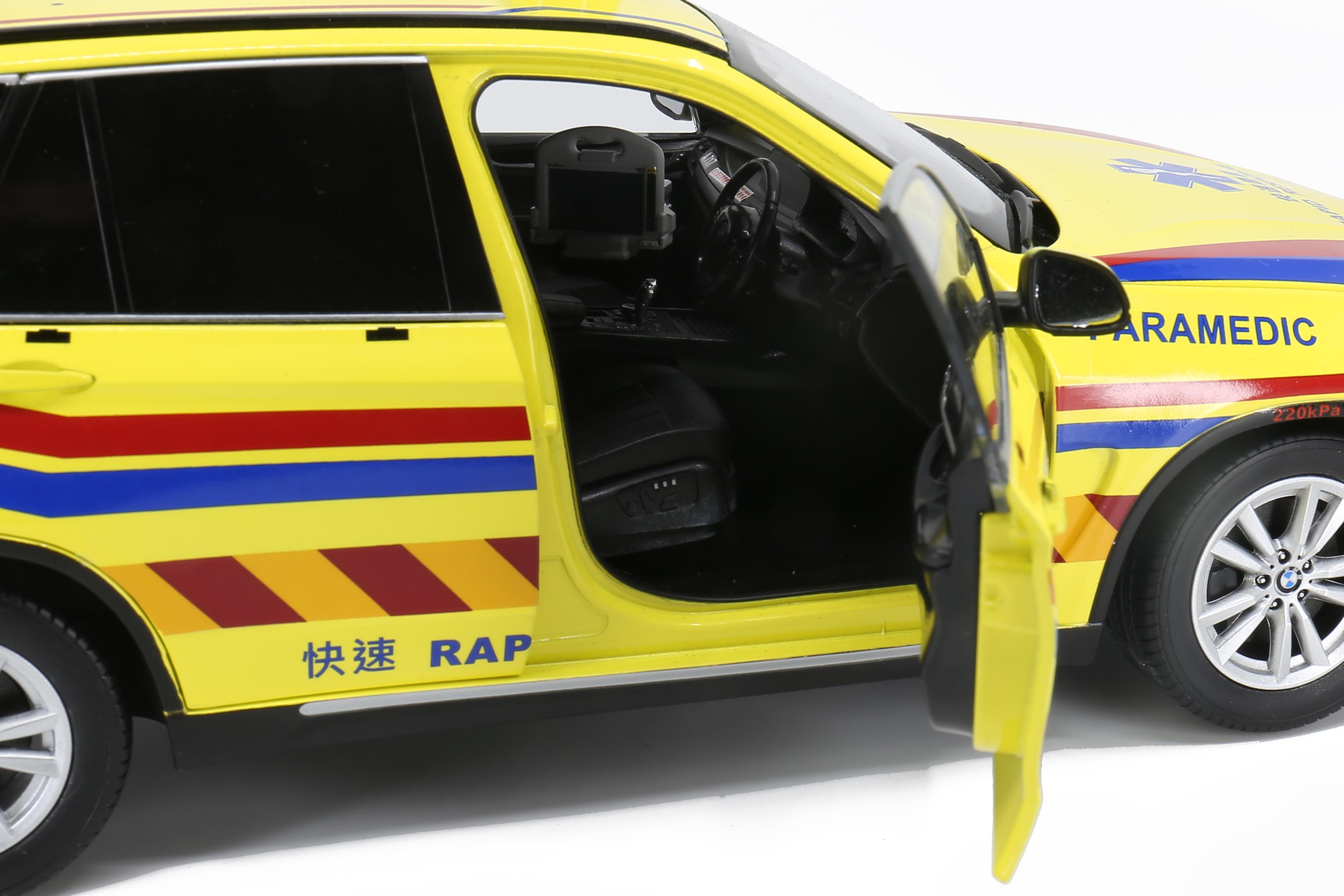 BMW X5 paramédical Paragon Jadi 1/18 portes